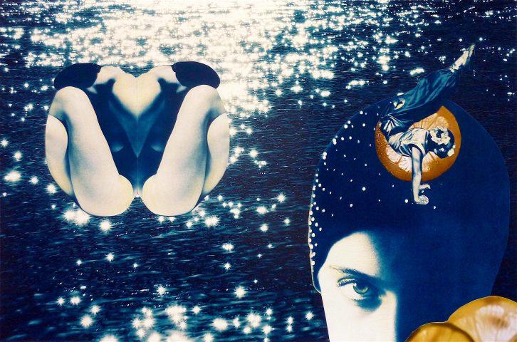 <p><strong>The Crystal Ball</strong></p> <p><em>The Crystal Ball, februari 2019, collage en kleurpotlood op papier, 50 x 65 cm.</em></p> <p><em>Foto's in deze compositie: gevonden en bewerkt, en eigen afbeelding.</em></p>