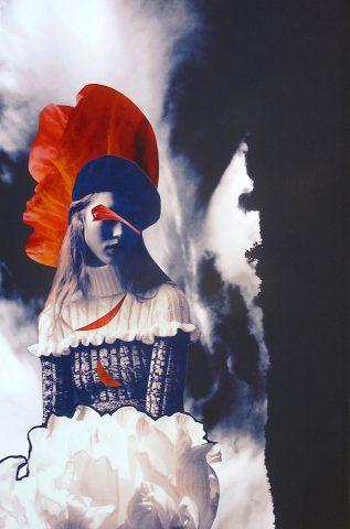 <p><strong>Tulle</strong></p> <p><em>Tulle, februari 2019, mixed media (print, aquarelstift) op zwart papier, 50 x 70 cm.</em></p> <p><em>Foto's in deze compositie; gevonden en bewerkt, en eigen afbeelding.</em></p>