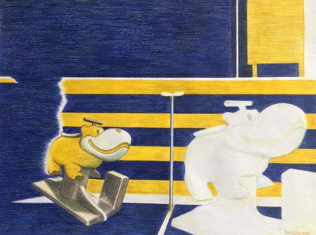 <p><strong>Fantastico!</strong></p> <p><em>Fantastico!, september 2020, aquarelkleurpotlood op papier (uitgewerkt met penseel), 41 x 55 cm.</em></p>