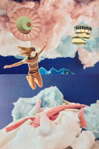 <p><strong>Sugar Island</strong></p> <p><em>Sugar Island, oktober 2020, magazinepapier, print op papier, 39 x 58 cm. Collage geïnspireerd op en samengesteld met eigen beeld en beeld uit magazines.</em></p>
