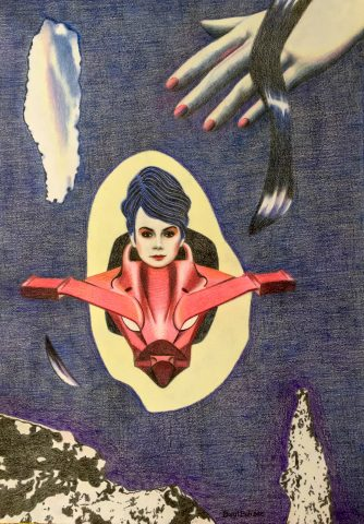 <p><strong>The Spin</strong></p> <p><em>The Spin, januari 2021, kleurpotlood op papier, 42 x 59,4 cm.</em></p>
